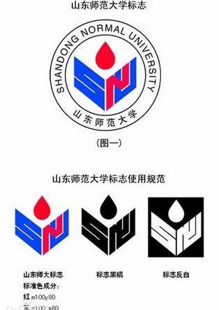 山东师范大学标志主体部分由学校英文名称(shandong normal