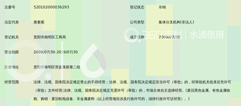 贵州省小河回收语法第十经营部目录金属高中图片