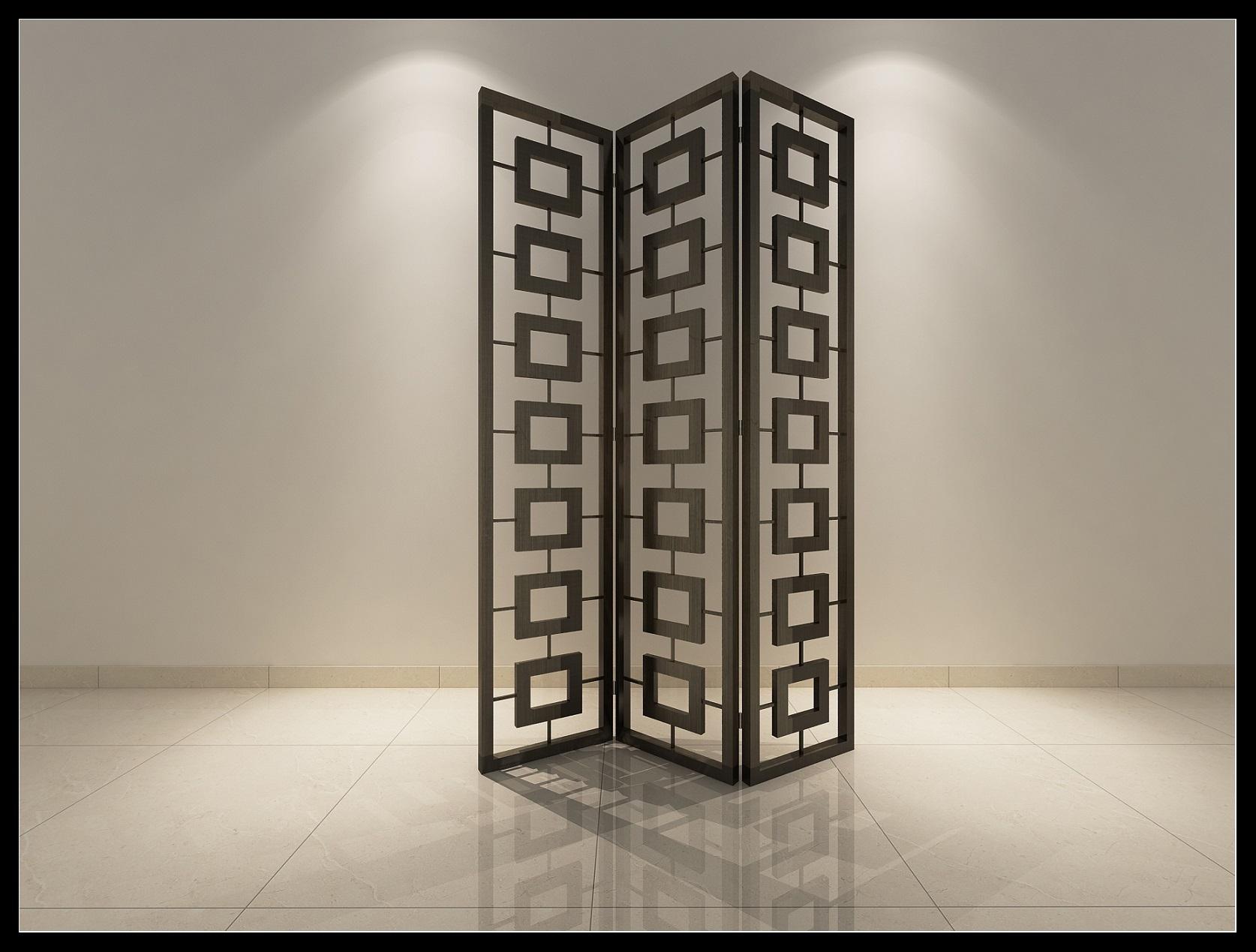 现代屏风作为室内陈设在现代室内设计中占据着重要的