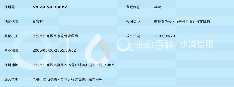 巨人通力电梯有限公司宁波分公司_360百科