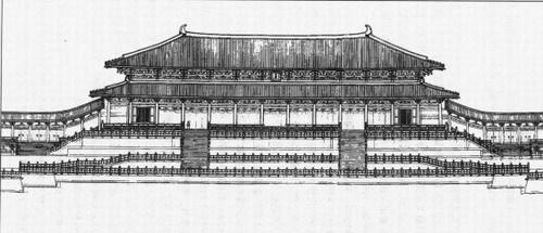 唐代宫殿简笔画分享展示