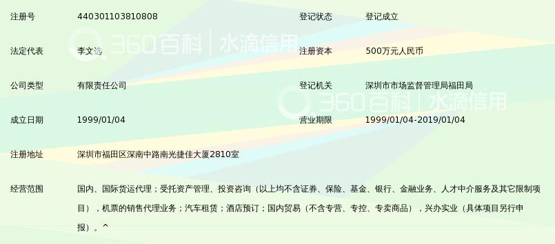 深圳市航海航空物流有限公司_360百科