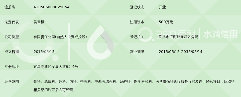 宜昌华西骨科医院有限公司_360百科