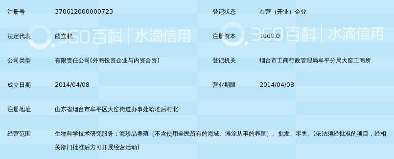 烟台仙洋生物科技有限公司_360百科